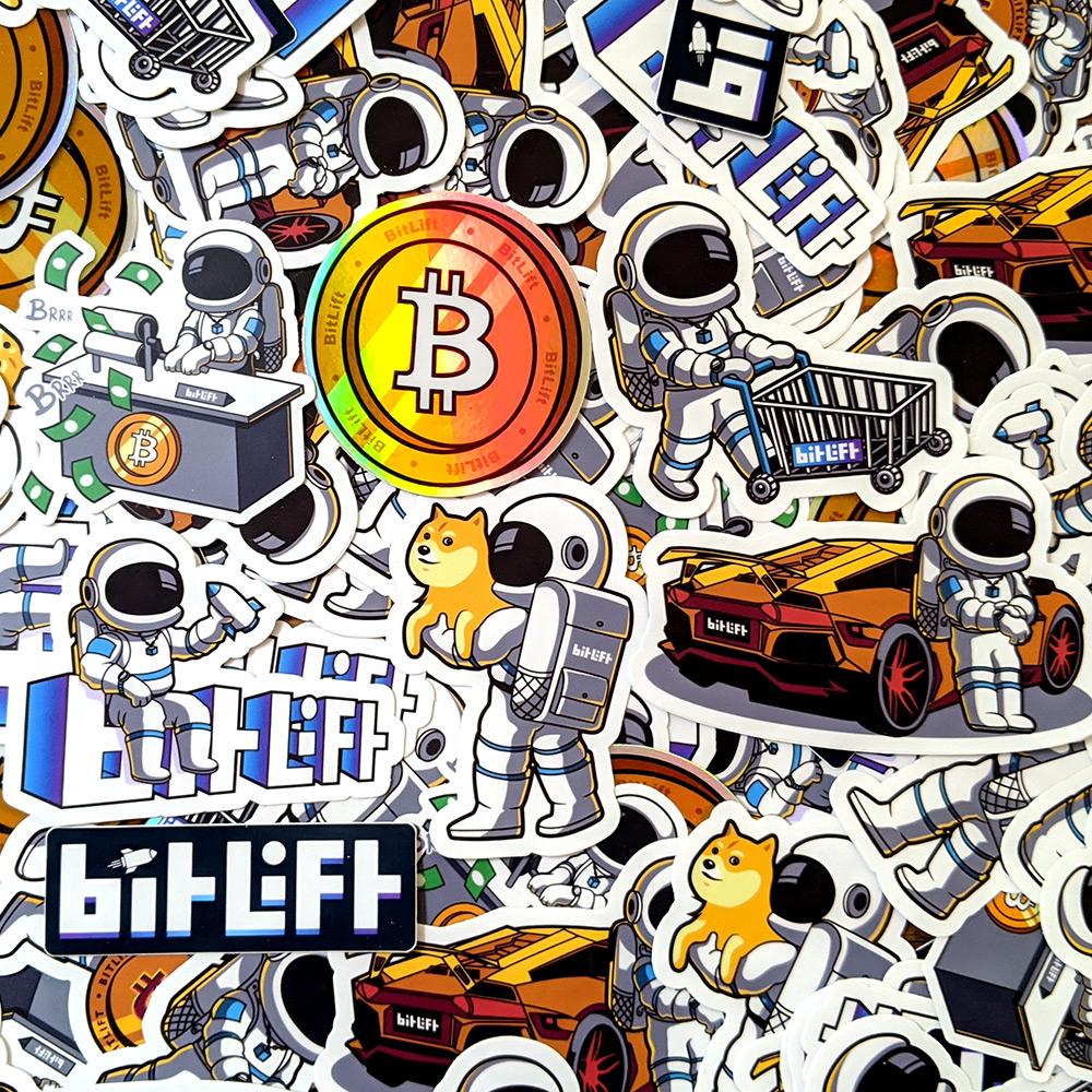 10X Bitcoin Aufkleber Sticker Set BTC 9,5cm Crypto Cryptocurrency Pickerl