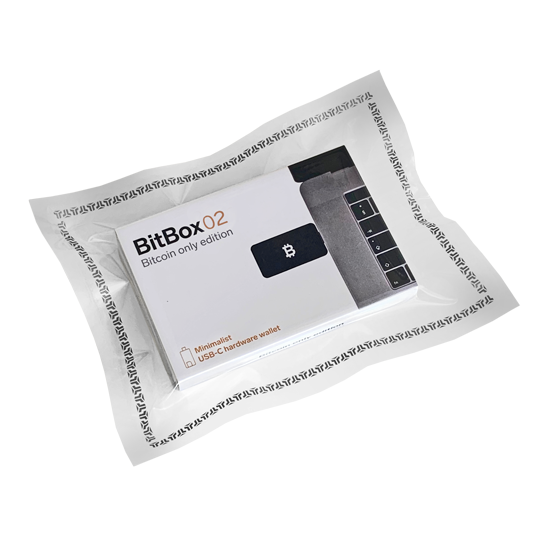 BitBox02 BTC Packaging
