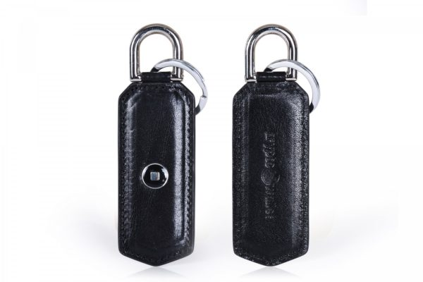 Black Leather Keychain