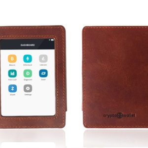 Ledger Blue Brown Leather Case