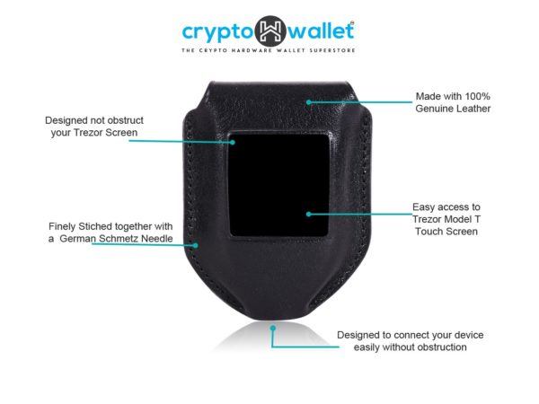 Trezor Model T Black Leather Case Info