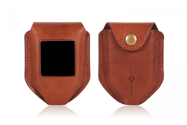 Trezor Model T Brown Leather Case