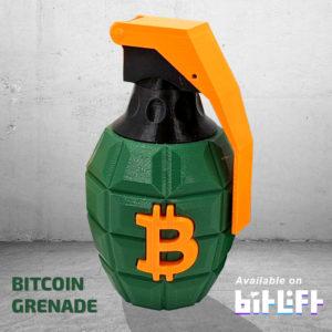 Bitcoin Grenade Art Green