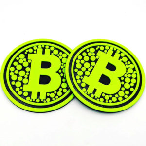 Florecent BTC Coasters